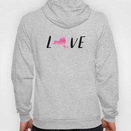 New York Love - Pink Watercolor Hoody