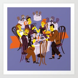 Fancy Dinner Art Print