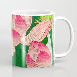 Ohara Koson Flowering Lotus 1930s Japanese Woodblock Print Vintage Historical Japanese Art Coffee Mug