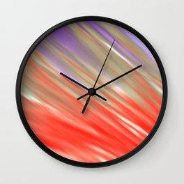 Crimson Aurora Wall Clock