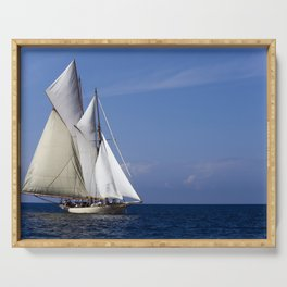 Schooner Sailing Ship Seascape Serving Tray