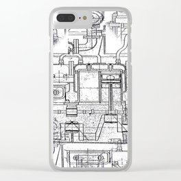 Engineered Sketch Clear iPhone Case