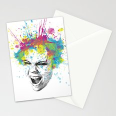 Crazy Colorful Scream Stationery Cards