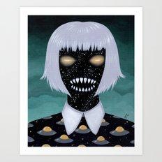 space demon ufos Art Print