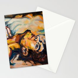 Resting man Stationery Cards