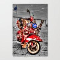 vespa Canvas Prints featuring Vespa by Doug McRae