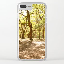 Southern Trees Clear iPhone Case