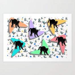 Retro Kitty Art Print