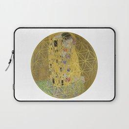 The Kiss - Gustav Klimt - Golden Flower Of Life Laptop Sleeve