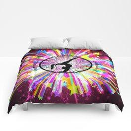 rainbow star gymnast Comforters