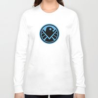agents of shield Long Sleeve T-shirts featuring Friendly New SHIELD by Arne AKA Ratscape