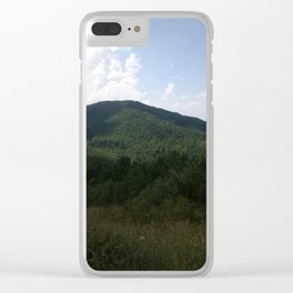 Mountain view Clear iPhone Case