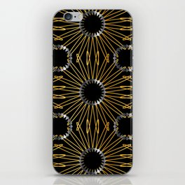Gold and silver snowflake gifts iPhone Skin
