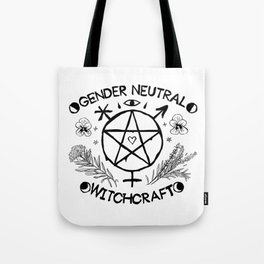 Gender Neutral Witchcraft Tote Bag