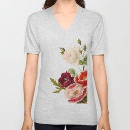 romantic floral design Unisex V-Neck