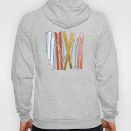 Colorful Ski Pattern Hoody