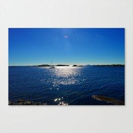 sailboat on calm sea Canvas Print