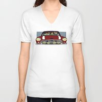 cargline V-neck T-shirts featuring Road Trip by cargline