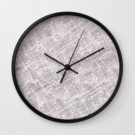 Ink Weaves: Morganite I Wall Clock