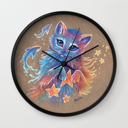 Cat's dreams Wall Clock