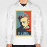 rebel Hoodies featuring Rebel by Sparks68