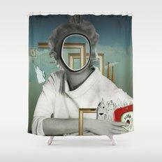 The truth is dead 23417 · Die Frau am Fenster 2 Shower Curtain