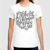 alphabet T-shirts featuring ALPHABET by Kiley Victoria
