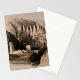 Vintage Print - The Holy Land, Vol 3 (1843) - Ancient cemetery at Petra Stationery Cards