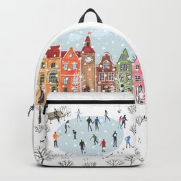 winter town Backpack