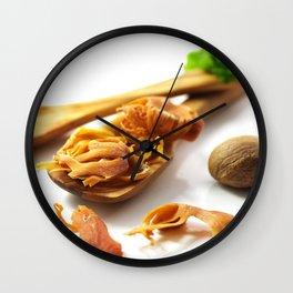 The flower of nutmeg Wall Clock