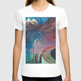 A l'Aube Alpine Mountain Lake landscape painting by Marianne von Werefkin T-shirt
