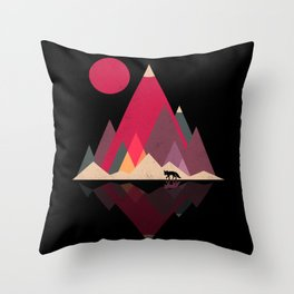 Fox Lands Throw Pillow