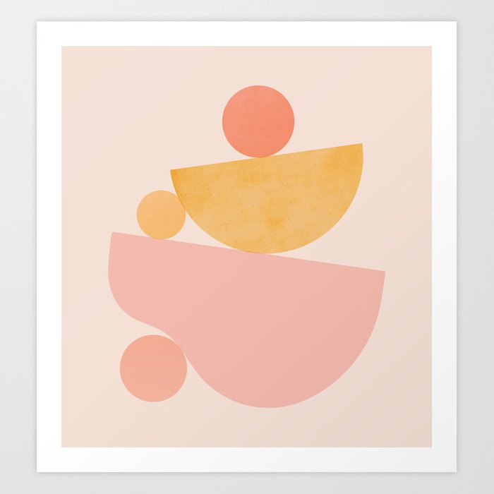 Abstraction_PLAYFUL_SHAPE Art Print