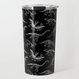 Dinosaurs Paleontology Skeletons Pattern Travel Mug