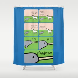 It's All Made Up (Horned Warrior Friends) Shower Curtain