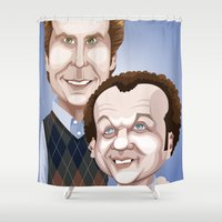 will ferrell Shower Curtains featuring Step Brothers by Leo Maia