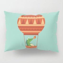 Dragon On Hot Air Balloon Pillow Sham