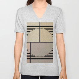 Toned Down - line graphic Unisex V-Neck