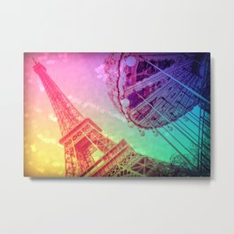Paris : Rainbow Romance Metal Print