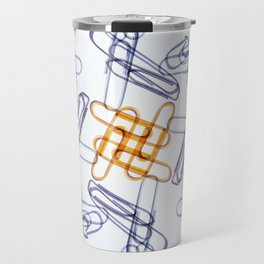 Kaleidoscope -Paper Clips Travel Mug