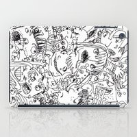 it crowd iPad Cases featuring Crowd by Sára Szabó