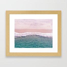 Contemporary Beach, Aerial Beach Framed Art Print