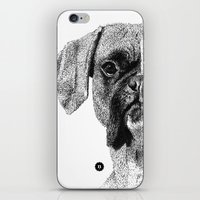 boxer iPhone & iPod Skins featuring Boxer by Nuria Galceran