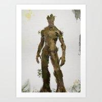 groot Art Prints featuring Groot by Scofield Designs
