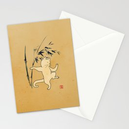 Tai Chi Cat 03 Stationery Cards