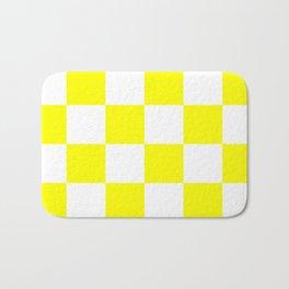 Large Checkered - White and Yellow Bath Mat