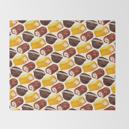 Hostess Cake Pattern Throw Blanket