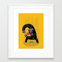 king Framed Art Prints featuring King Kong Ping Pong by Wharton