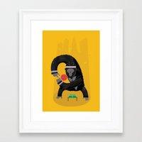 king Framed Art Prints featuring King Kong Ping Pong by Wharton