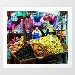 Mexican Market Art Print